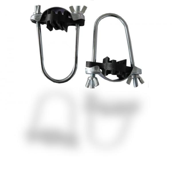 8 Stück Trampolin Fixierklammern für Netzstangen Set