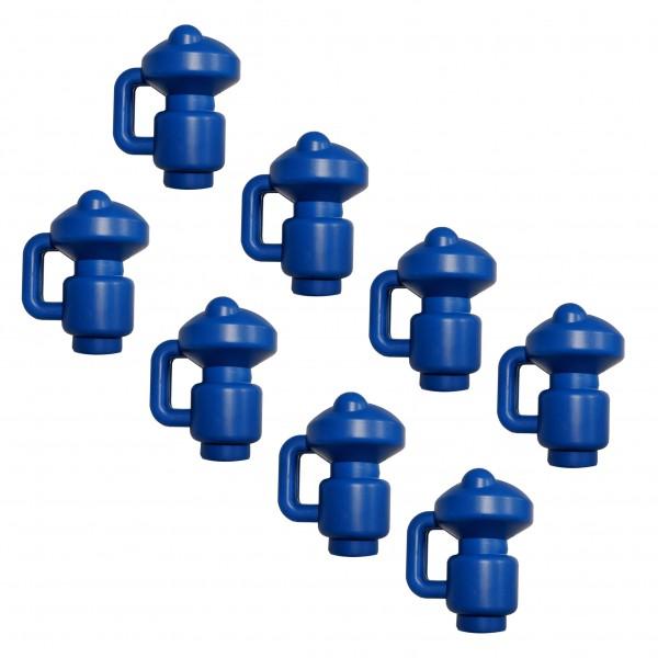 8 Stück Trampolin Endkappen für Netzstangen Set